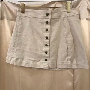 Free People Button Up Jean Skirt
